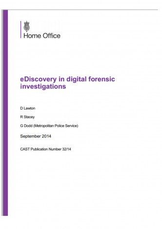 The Report: eDiscovery in digital forensic investigations
