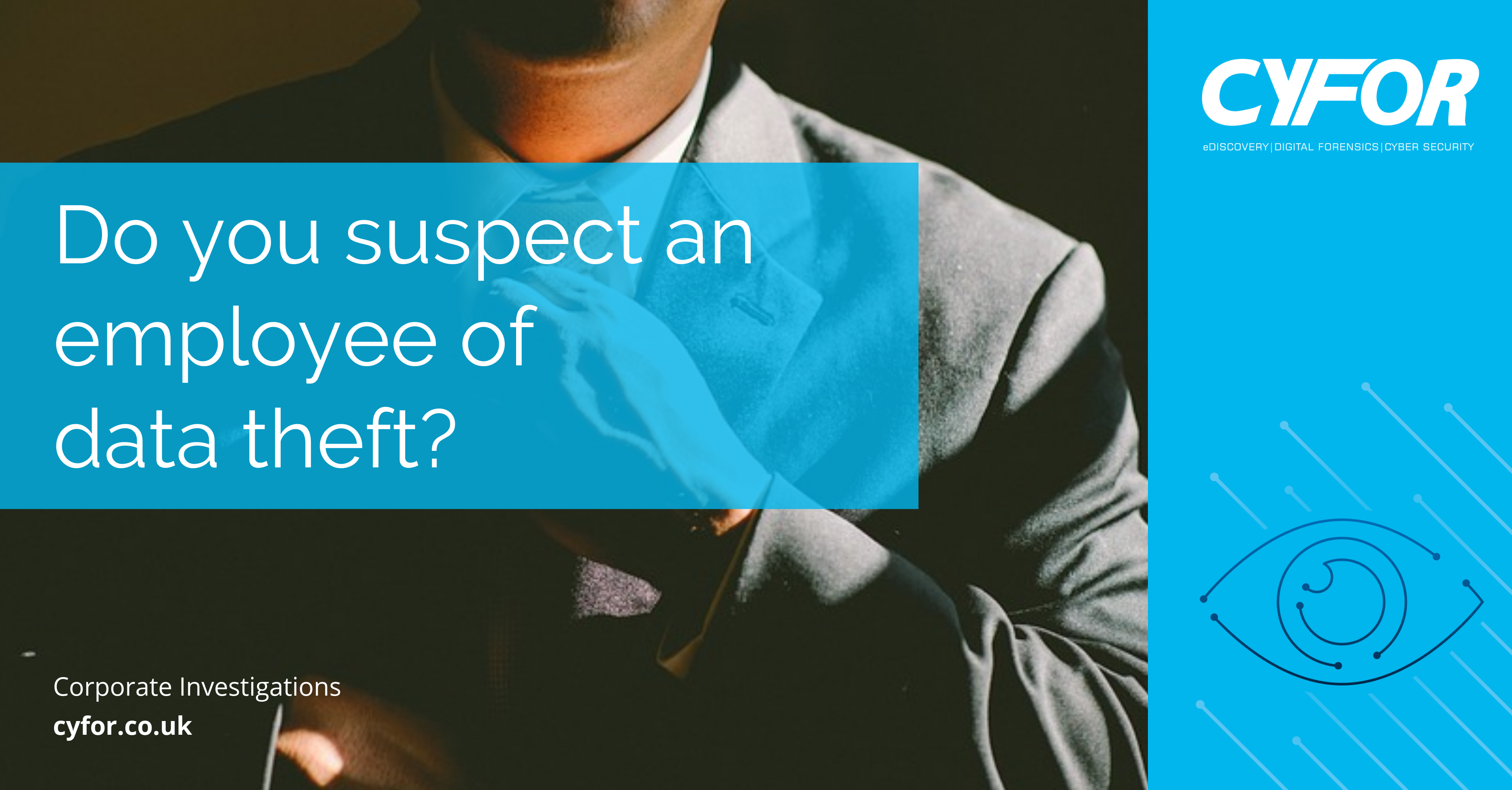 suspect an employee of data theft