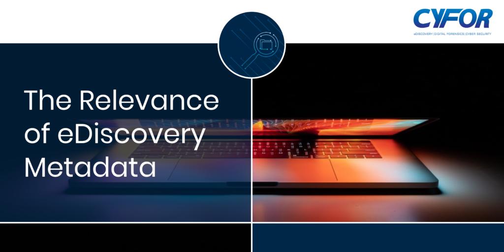 eDiscovery metadata