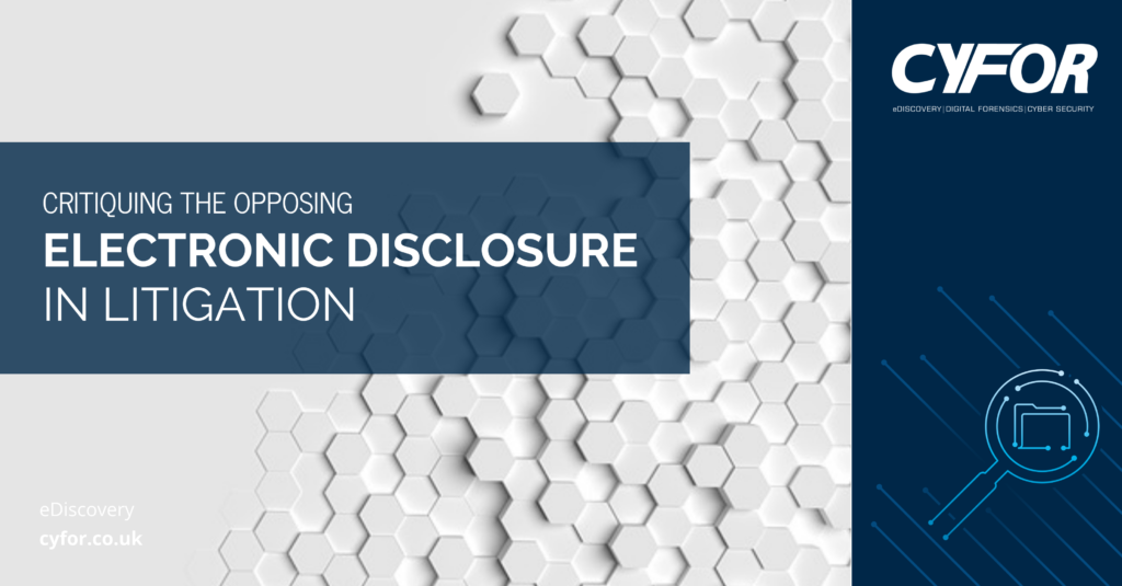 electronic disclosure in litigation