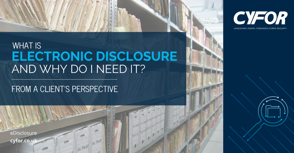 what is electronic disclosure