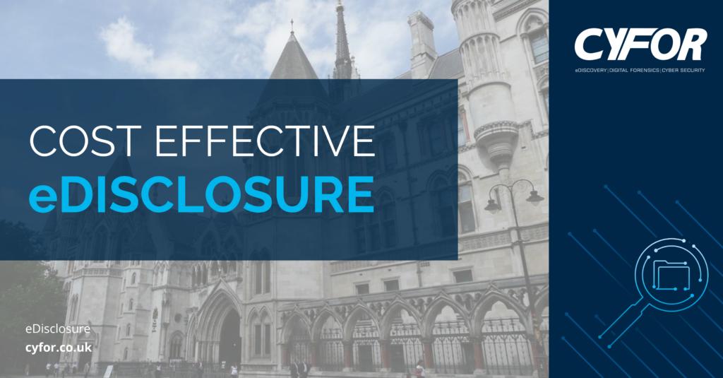 Cost-effective eDisclosure