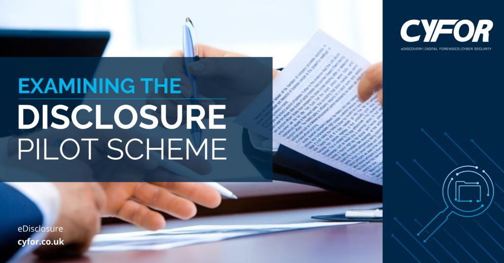 disclosure pilot scheme