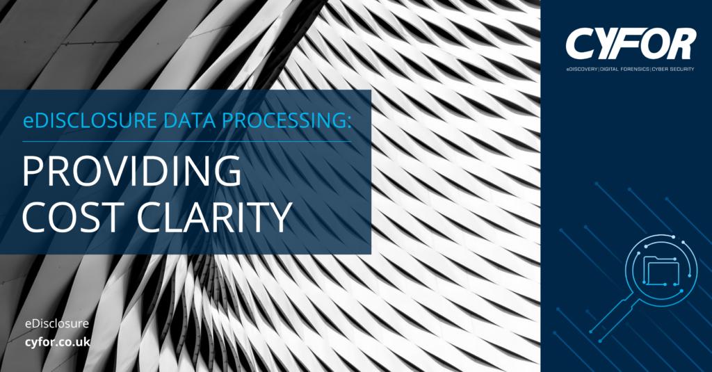 eDisclosure Data Processing
