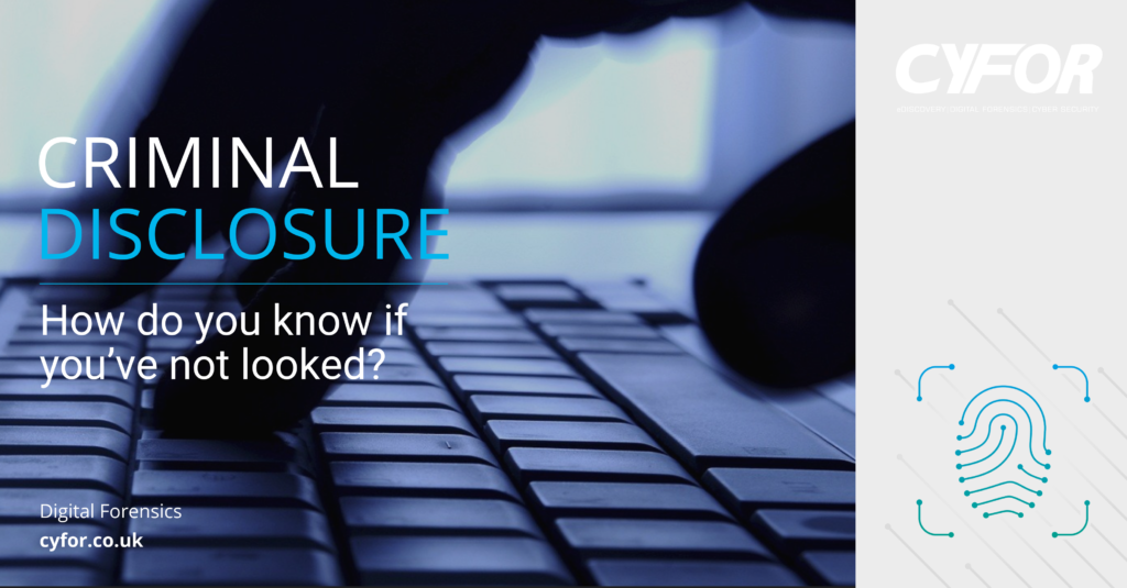 Criminal disclosure