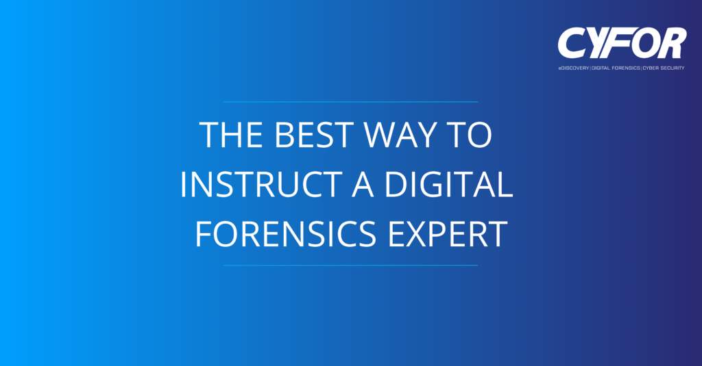 instruct a digital forensics expert