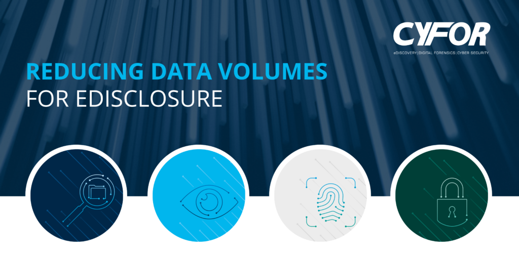 reducing data volumes