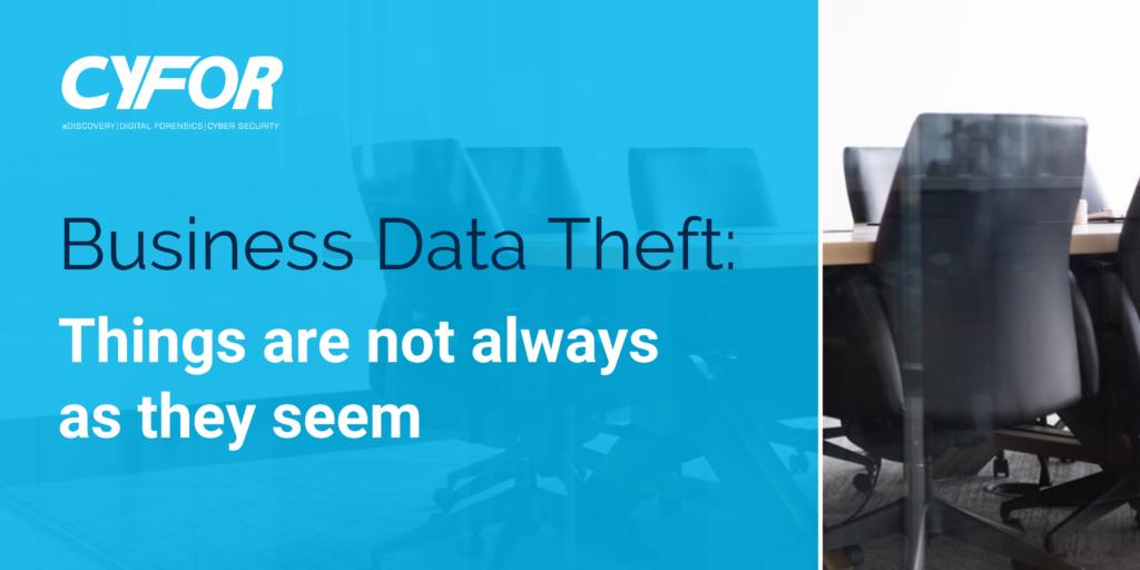 Business data theft